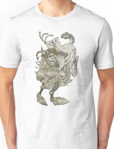 Steampunk Pirate Samurai Riding Iron Horse Unisex T-Shirt