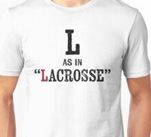 Lacrosse T-shirt - Alphabet Letter Unisex T-Shirt