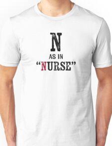Nurse T-shirt - Alphabet Letter Unisex T-Shirt
