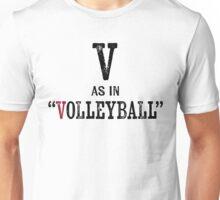 Volleyball T-shirt - Alphabet Letter Unisex T-Shirt