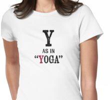 Yoga T-shirt - Alphabet Letter Womens Fitted T-Shirt
