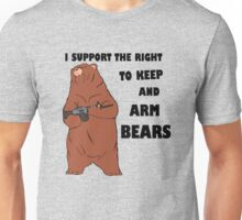 I Support the Right To Arm Bears black Unisex T-Shirt