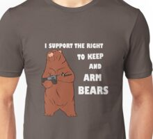 I Support the Right To Arm Bears white Unisex T-Shirt