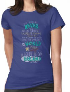 Hillary Clinton Quote - Version 2 Womens Fitted T-Shirt