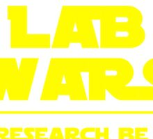 Lab Wars (yellow) Sticker