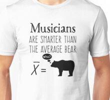 Funny Musicians T-shirt - Average Bear Unisex T-Shirt