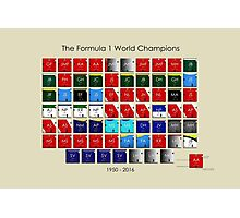 Periodic table of F1 World champions Photographic Print