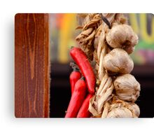 Garlic and Chilli Canvas Print
