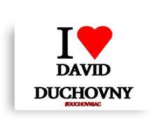 I Love David Duchovny Canvas Print