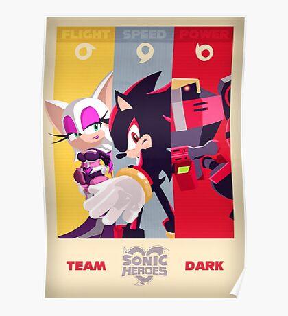 Team Dark - Sonic the Hedgehog Poster