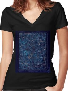 USGS TOPO Map New Hampshire NH Mt Pawtuckaway 330229 1919 62500 Inverted Women's Fitted V-Neck T-Shirt
