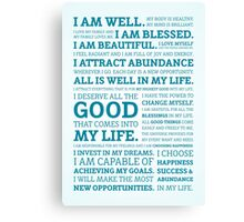 Positive Affirmations (Colour) Canvas Print