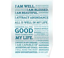 Positive Affirmations (Colour) Poster