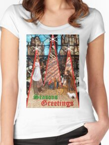 CHRISTMAS GREETINGS 2 Women's Fitted Scoop T-Shirt
