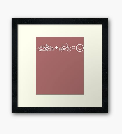 Mountain Biking Equals Happiness Happy Smiling  Framed Print