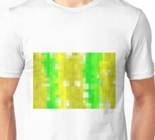 green white and yellow pixel abstract background Unisex T-Shirt