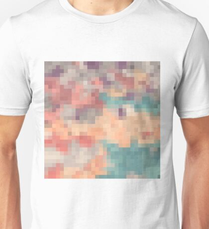 pink blue and purple pixel abstract background Unisex T-Shirt