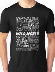 WILD WORLD - SONG TITLES (DARK) Unisex T-Shirt