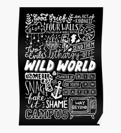 WILD WORLD - SONG TITLES (DARK) Poster