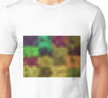 green yellow purple and pink pixel abstract background Unisex T-Shirt