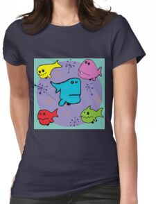 Fishes and Stars Womens Fitted T-Shirt