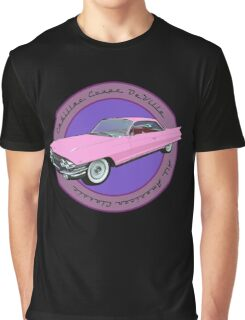 Pink Cadillac - Classic American Retro Car  Graphic T-Shirt
