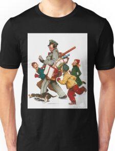 Norman Rockwell Christmas Unisex T-Shirt