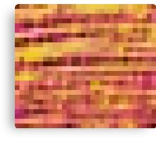 pink yellow and orange pixel abstract background Canvas Print