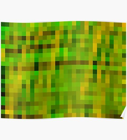 green black and yellow pixel abstract background Poster