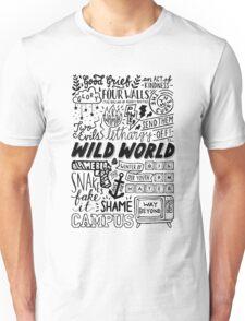 WILD WORLD - SONG TITLES (LIGHT) Unisex T-Shirt