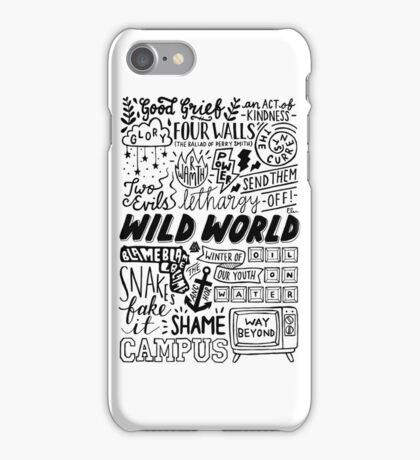 WILD WORLD - SONG TITLES (LIGHT) iPhone Case/Skin
