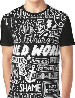WILD WORLD - SONG TITLES (DARK) Graphic T-Shirt