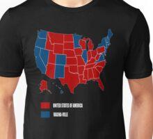 election map 2016 america vs vagina-ville Unisex T-Shirt