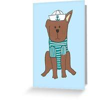 Sailor Dog Greeting Card