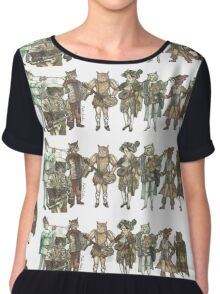 Felis Simha Rock Band Chiffon Top