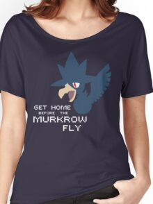 Pokémon Sun & Moon - Get home before the Murkrow fly. Women's Relaxed Fit T-Shirt