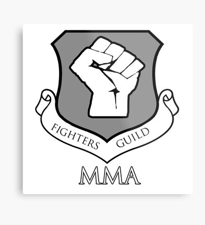 Fighters Guild MMA Metal Print