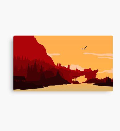 Skyrim Solitude Canvas Print