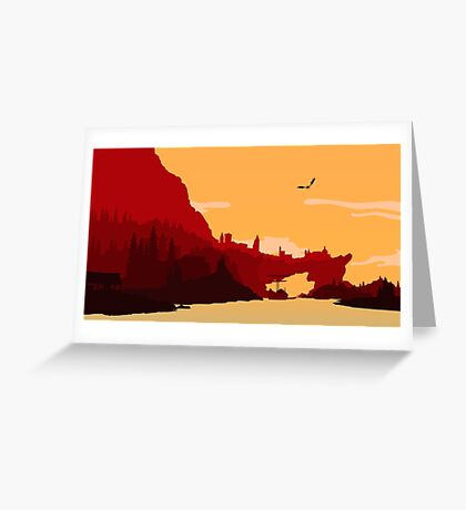 Skyrim Solitude Greeting Card
