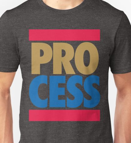 Process Throwback (Block Red/Gold/Blue) Unisex T-Shirt