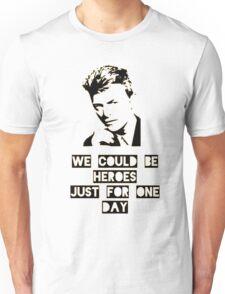 Heroes - David Bowie Unisex T-Shirt