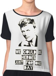 Heroes - David Bowie Chiffon Top