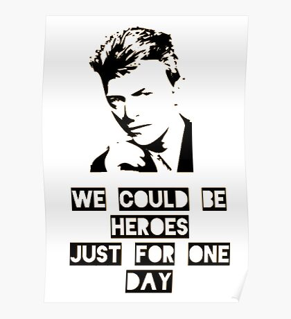 Heroes - David Bowie Poster