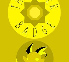Thunder Badge - Kanto Region - Pokemon by H-Driscolls