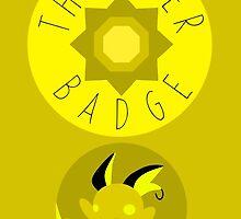 Thunder Badge - Kanto Region - Pokemon by H-Driscolls