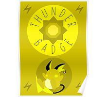 Thunder Badge - Kanto Region - Pokemon Poster