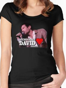Duchovniacs Love David Women's Fitted Scoop T-Shirt