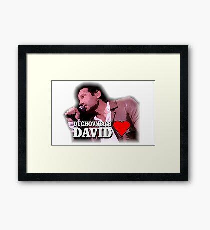 Duchovniacs Love David Framed Print