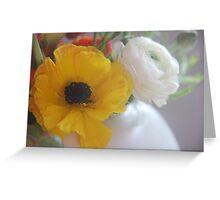 Lemon Ranunculus Greeting Card