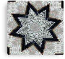 Water Star Mandala Canvas Print